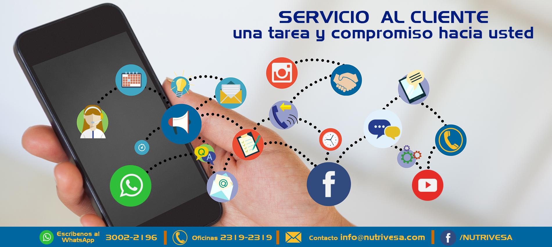 Servicio al Cliente Nutrivesa | Nutrivesa