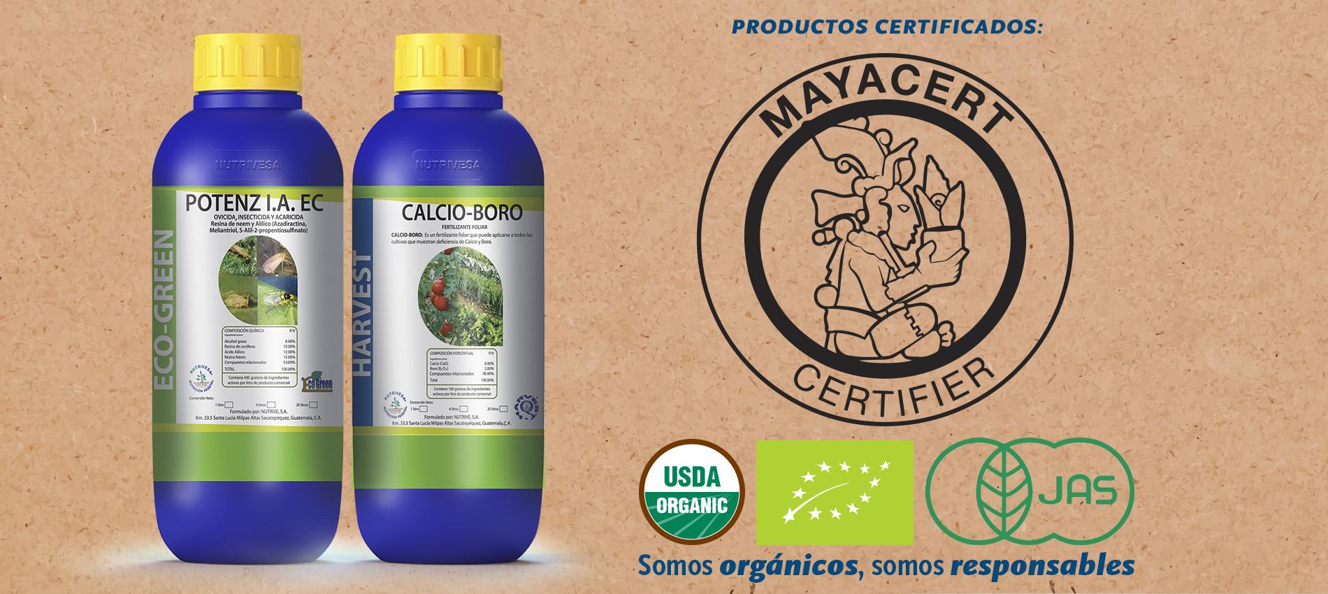 MAYACERT -PRODUCTOS CERTIFICADOS | Nutrivesa